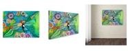 "Trademark Global Wyanne 'Big Eyed Girls Together Is Better' Canvas Art - 14"" x 19"""