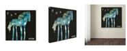 """Trademark Global Wyanne 'Midnight Pony' Canvas Art - 14"""" x 14"""""""
