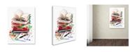 "Trademark Global The Macneil Studio 'Exam Books' Canvas Art - 14"" x 19"""