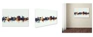 """Trademark Global Michael Tompsett 'Fayetteville Arkansas Skyline V' Canvas Art - 12"""" x 19"""""""