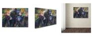 "Trademark Global Richard Wallich 'Art Bear Family' Canvas Art - 14"" x 19"""
