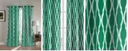 "Duck River Textile Kittattinny 38"" x 84"" Trellis Print Blackout Curtain Set"