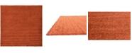 "Bridgeport Home Exact Shag Exs1 Terracotta 8' 2"" x 8' 2"" Square Area Rug"