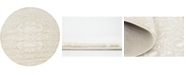 Bridgeport Home Marshall Mar4 Snow White 5' x 5' Round Area Rug