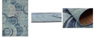 Bridgeport Home Pashio Pas1 Light Blue 4' x 6' Area Rug