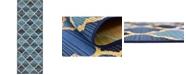 Bridgeport Home Pashio Pas1 Blue 2' x 6' Runner Area Rug