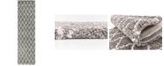 """Bridgeport Home Fazil Shag Faz3 Gray 2' 7"""" x 10' Runner Area Rug"""