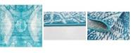 Bridgeport Home Basha Bas3 Turquoise 6' x 6' Square Area Rug