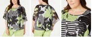 Alfred Dunner Plus Size Cayman Islands Printed Top