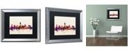 """Trademark Global Michael Tompsett 'Austin Texas Skyline' Matted Framed Art - 16"""" x 20"""""""