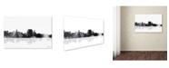 "Trademark Global Marlene Watson 'Augusta Maine Skyline BG-1' Canvas Art - 16"" x 24"""