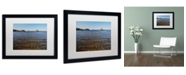 "Trademark Global Nicole Dietz 'View from the Shore' Matted Framed Art - 16"" x 20"""