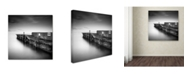 "Trademark Global Rob Cherry 'Swanage Jetty' Canvas Art - 18"" x 18"""