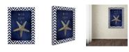 "Trademark Global Stephanie Marrott 'Starfish' Canvas Art - 18"" x 24"""