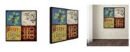 "Trademark Global Stephanie Marrott 'Holiday 4 Patch III' Canvas Art - 18"" x 18"""