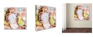 "Trademark Global Jennifer Redstreake 'Blue Dots' Canvas Art - 18"" x 18"""