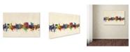 "Trademark Global Michael Tompsett 'Fayetteville Arkansas Skyline' Canvas Art - 16"" x 24"""