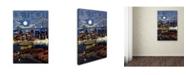 "Trademark Global Lantern Press 'City 1' Canvas Art - 16"" x 24"""