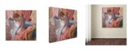 "Trademark Global Edgar Degas 'Bather' Canvas Art - 18"" x 18"""