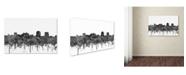 "Trademark Global Marlene Watson 'Colorado Springs Colorado Skyline BW' Canvas Art - 16"" x 24"""
