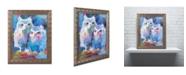 "Trademark Global Richard Wallich 'Owls' Ornate Framed Art - 16"" x 20"""