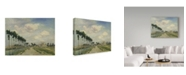 "Trademark Global Johan Barthold Jongkind 'The Towpath' Canvas Art - 24"" x 18"""