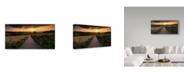 "Trademark Global Istvan Nagy 'Road To Sunset Valley' Canvas Art - 24"" x 12"""
