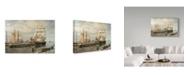 "Trademark Global Jack Wemp 'Drying Sails - New Bedford' Canvas Art - 19"" x 12"""