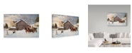 "Trademark Global Jack Wemp 'Christmas At The Farm' Canvas Art - 19"" x 12"""