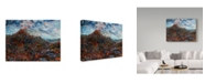 "Trademark Global James W. Johnson 'Volcano' Canvas Art - 19"" x 14"""