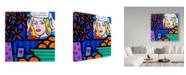 """Trademark Global John Nolan 'Homage To Lichtenstein' Canvas Art - 24"""" x 24"""""""