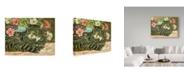 """Trademark Global Jan Benz 'Boo Gray Cat' Canvas Art - 24"""" x 18"""""""