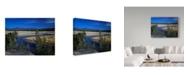 "Trademark Global J.D. Mcfarlan 'Yellowstone River' Canvas Art - 24"" x 18"""