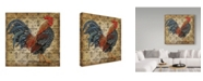 "Trademark Global Jean Plout 'Le Coq 3' Canvas Art - 18"" x 18"""