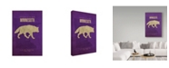 "Trademark Global Red Atlas Designs 'State Animal Minnesota' Canvas Art - 12"" x 19"""