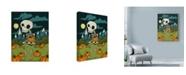 "Trademark Global Lauren Ramer 'Skeleton Boy' Canvas Art - 14"" x 19"""