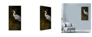 "Trademark Global Michael Jackson 'Last Light Heron' Canvas Art - 16"" x 32"""