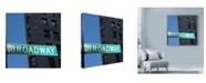 "Trademark Global Nina Papiorek 'NYC Broadway' Canvas Art - 18"" x 18"""
