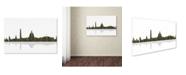 "Trademark Global Marlene Watson 'Washington DC Skyline II' Canvas Art - 16"" x 24"""