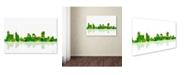 "Trademark Global Marlene Watson 'Memphis Tennessee Skyline' Canvas Art - 16"" x 24"""