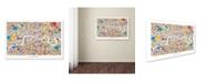 "Trademark Global Michael Tompsett 'London England Street Map' Canvas Art - 16"" x 24"""