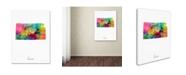 """Trademark Global Michael Tompsett 'Kansas Map' Canvas Art - 18"""" x 24"""""""