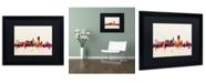 """Trademark Global Michael Tompsett 'San Francisco City Skyline IV' Matted Framed Art - 16"""" x 20"""""""