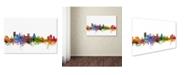 "Trademark Global Michael Tompsett 'Baltimore Maryland Skyline' Canvas Art - 18"" x 28"""