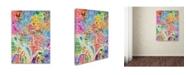 "Trademark Global Michael Tompsett 'Washington DC Street Map' Canvas Art - 35"" x 47"""