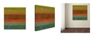 "Trademark Global Michelle Calkins 'Gold Line' Canvas Art - 35"" x 35"""
