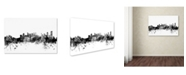 "Trademark Global Michael Tompsett 'Calgary Canada Skyline B&W' Canvas Art - 30"" x 47"""
