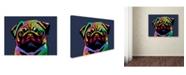 "Trademark Global Michael Tompsett 'Pug Dog' Canvas Art - 35"" x 47"""
