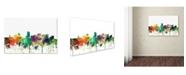 "Trademark Global Marlene Watson 'Portland Oregon Skyline SP' Canvas Art - 30"" x 47"""