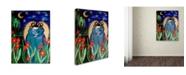 "Trademark Global Wyanne 'Big Diva Angel With Bird' Canvas Art - 35"" x 47"""